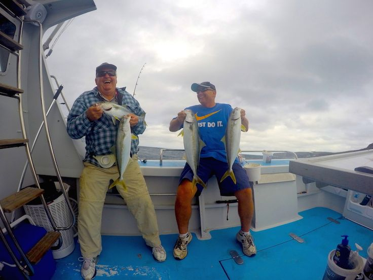 Kingfish Competition between Dad and Son - http://sydneypremiumfishingcharters.com.au/kingfish-competition-between-dad-and-son/