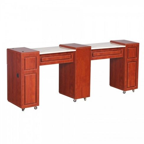 Canterbury Manicure Table Classic Cherry C - $529 ,  https://www.ebuynails.com/shop/canterbury-manicure-table-classic-cherry-c/ #furniture #spasalon #spafurniture #nailtable #salonfurniture #nailsalon