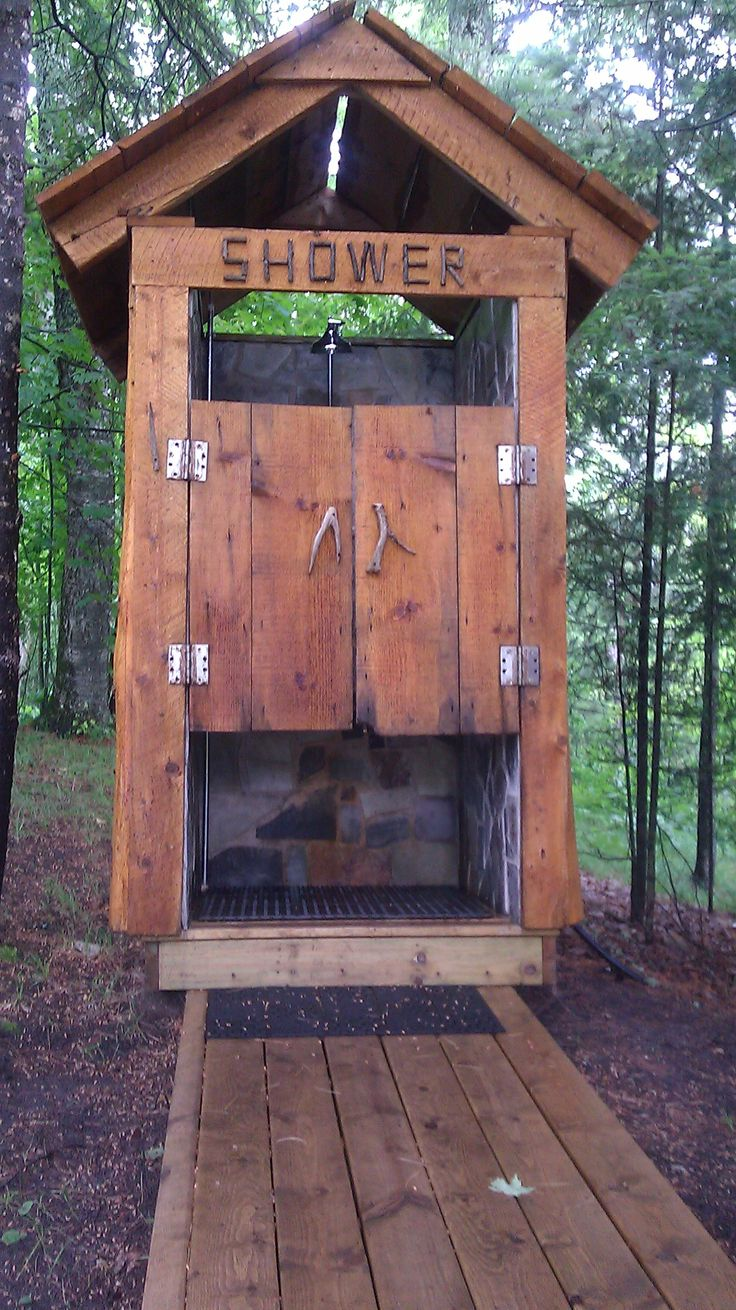 An Awesome Outdoor Shower At The Wilderness Lodge In Turtle Lake Mn Http Www
