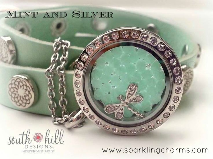 Mint and Silver! www.sparklingcharms.com