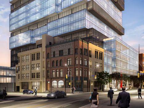 Sede del giornale nazionale del Canada. Questo Centro si trova nel quartiere di San Lorenzo, sarà un centro di attività urbana e uffici aziendali. Certificato Leed Gold ad alta efficienza energetica.