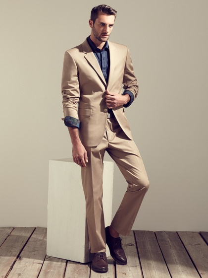 Wool Notch Lapel Suit by Calvin Klein Collection on Gilt