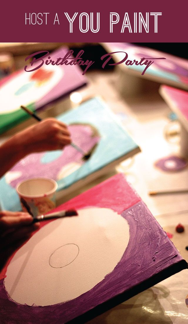 "This is such a fun birthday party theme -- a ""you paint"" party!"