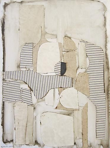"""weatherwax: """" Conrad Marca-Relli, Figure Seated, 1960 Oil and collage on canvas, 32 x 25 inches """""""