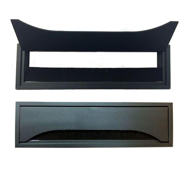 Rectangular Metal Table Grommet with Bristles   Desk Grommets