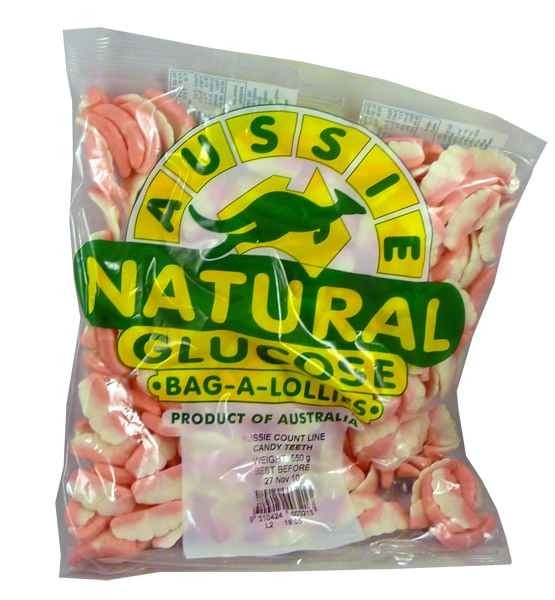 The Professors Tasty Technology - Aussie Candy Teeth (550g Bag), $10.21 (http://www.theprofessors.com.au/products/aussie-candy-teeth-550g-bag.html)