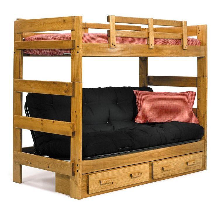 Chaise Lounge Sofa Savannah Twin over Futon Bunk Bed WCM