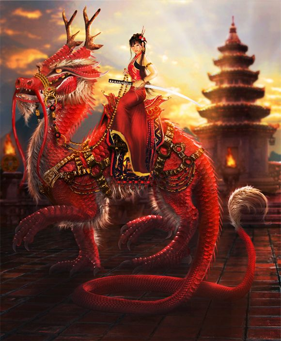 Imperial Dragon by LunaSea3D.deviantart.com on @deviantART