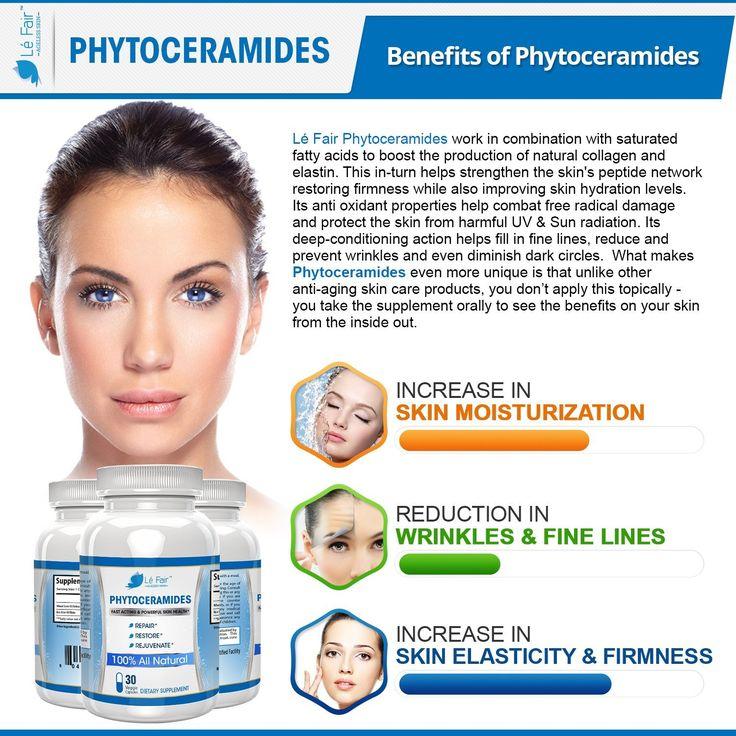 Phytoceramides Capsules - Hair Skin & Nail Vitamins - Vegetarian Rice and Wheat Germ Phytoceramide Pills - Repair & Restore Hair, Skin, Nails, & Eye Lashes - 30-Count Vegan Plant Derived: Amazon.co.uk: Health & Personal Care