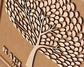 Custom wedding guest book alternative - 3D Wedding Tree guest book - wood rustic wedding guest book - Tree of Life - 150 leaves. $100.00, via Etsy.