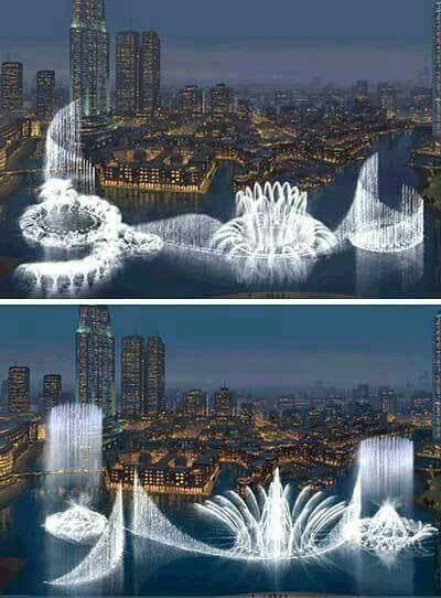 World's Largest Fountain in Dubai.
