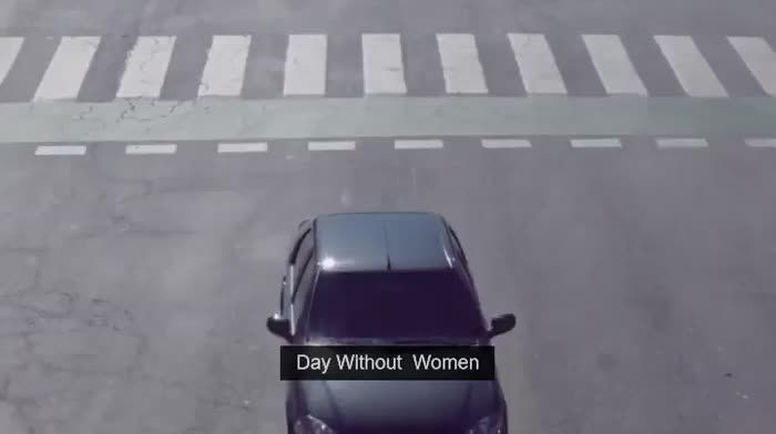 One day without women on the road.