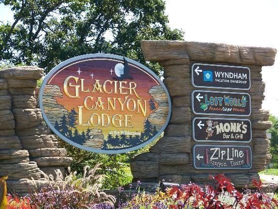 wi dells glacier canyon lodge sign places been sights. Black Bedroom Furniture Sets. Home Design Ideas