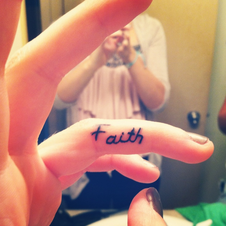 Faith Finger Tattoo... I want one that goes around and ...
