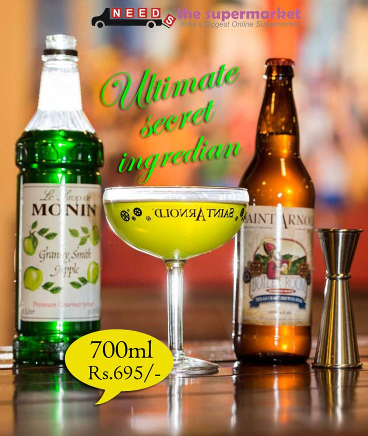 Enjoy Now with #MONIN #Green #Apple #syrup at Rs 695.00 #Shopnow in #NeedsTheSupermarket - Online Grocery Shopping Store in Delhi NCR