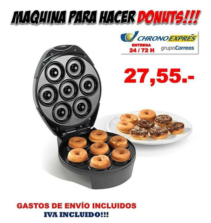 Maquina donuts receta gadgets electrodomesticos for Articulos cocina originales