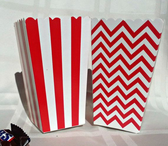 12 red u0026 white large mini popcorn boxes red and by 749