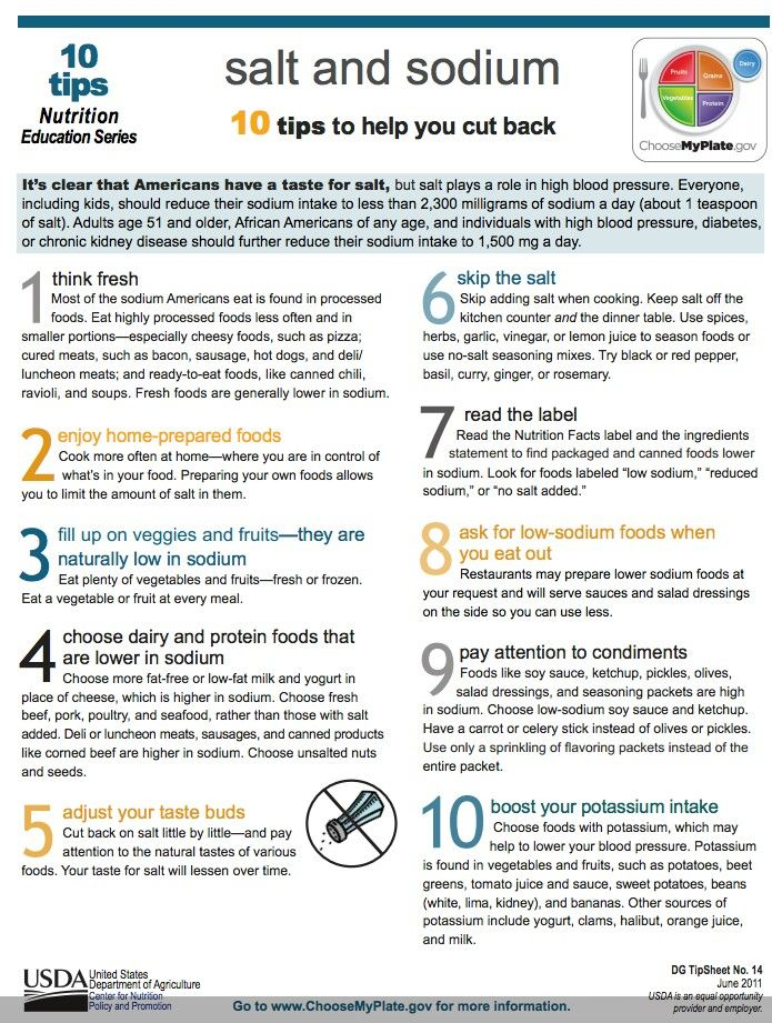 17 best low sodium info images on Pinterest | Printable ...