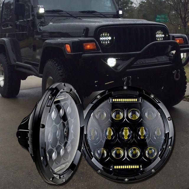 75w Headlamp 7 Inch Led Headlight with DRL for Wrangler Jk Tj Fj Cruiser Trucks Off Road Lights