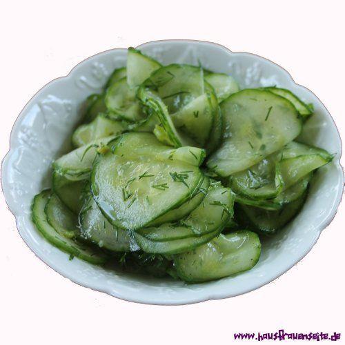 einfacher Gurkensalat mit Dill  das Rezept für diesen einfachen Gurkensalat mit Dill stammt aus Norwegen vegetarisch vegan laktosefrei glutenfrei