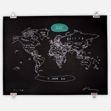 107 best travel wall ideas images on pinterest creative ideas create a wall mounted chalk board and draw the map of the world on it gumiabroncs Gallery