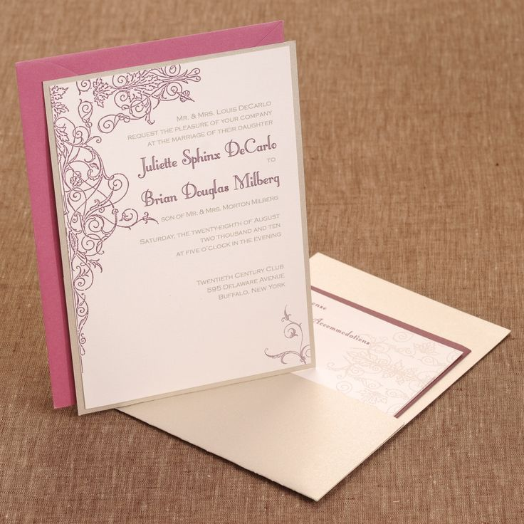 Spilled Ink Press Chicago Wedding Invitations