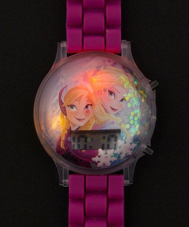 Take a look at this Snow Globe Fuchsia Anna & Elsa Watch on zulily today!