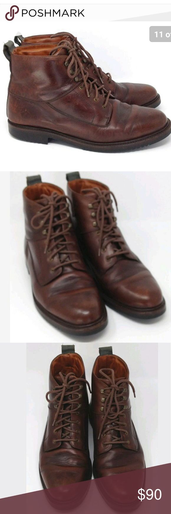Cole Haan Brown Leather Ankle Boots US 10 Cole Haan Ankle Boots Mens Brown Leather Business Dress Casual Chukka Mid Size US10 M / EU 44 / UK 9.5 - Excellent preowned condition, Cleaned, polished, and ready to wear.    Type: Shoes Style: Ankle Boots Business Dress Casual Chukka Mid  Brand: Cole Haan Size: US 10 M / EU 44 / UK 9.5 Material: Leather Color: Brown Condition: Excellent preowned condition, Cleaned, polished, and ready to wear.   Country of Manufacturer: Brazil Stock Number: Cole…