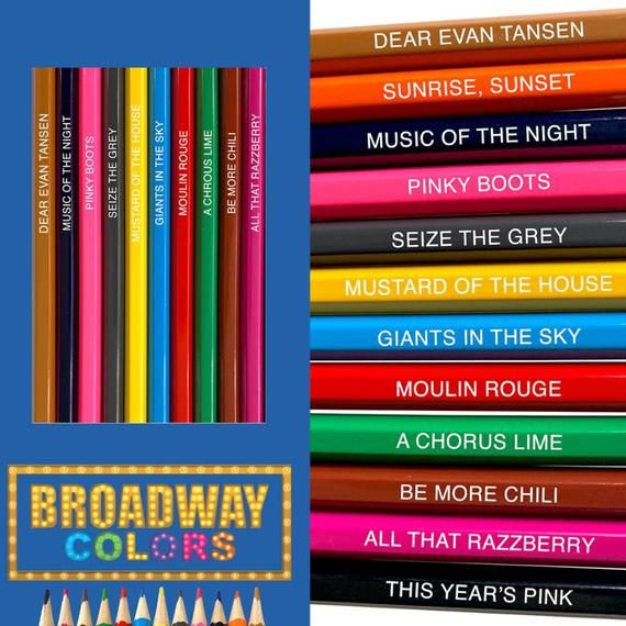 Broadway Colored Pencils Colored Pencils Broadway Music Of The