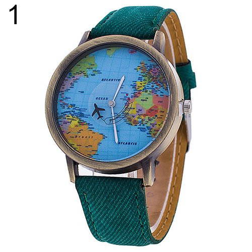 2016 New Fashions Women's Lady Girl World Map Dial Denim Fabric Strap Analog Quartz Students Wrist Watch #>=#>=#>=#>=#> Click on the pin to check out discount price, color, size, shipping, etc. Save and like it!