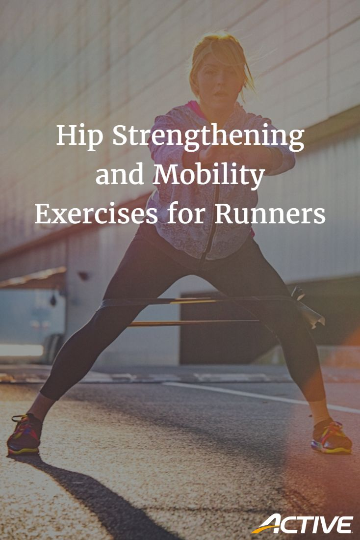 Hip strengthening and mobility exercises for runners.
