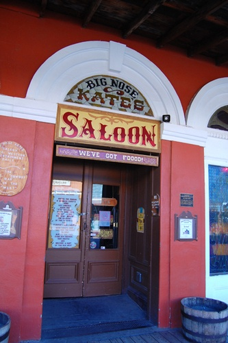 "Big Nose Kate's Saloon in Tombstone. It was originally called the ""Grand Hotel"" and was built in 1880. Ike Clanton and two Mclaury brothers stayed there the night before the famous OK Corral gunfight. Haunted by Kate herself..."