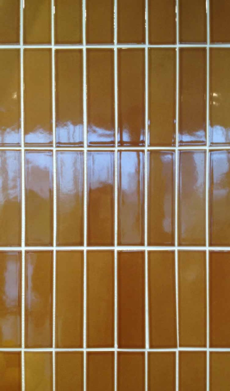 Heath Ceramics,, 3×6 brown