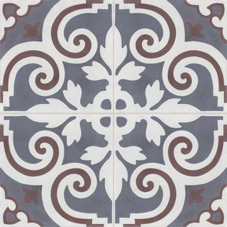 cement tiles - 20x20 patterns - cement tiles VENDOME 10.33.35 - Couleurs & Matières