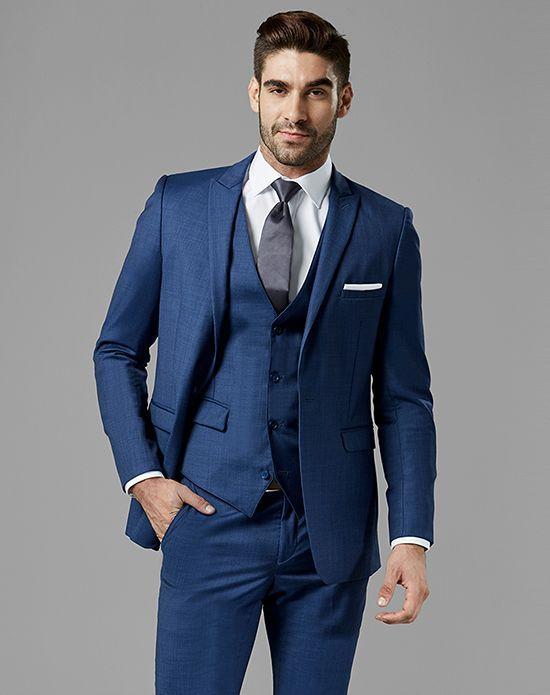aa63a5de0df9 Generation Tux Mystic Blue Peak Lapel Suit Wedding Tuxedo | Wedding Ideas | Tuxedo  wedding, Blue tuxedos, Suits