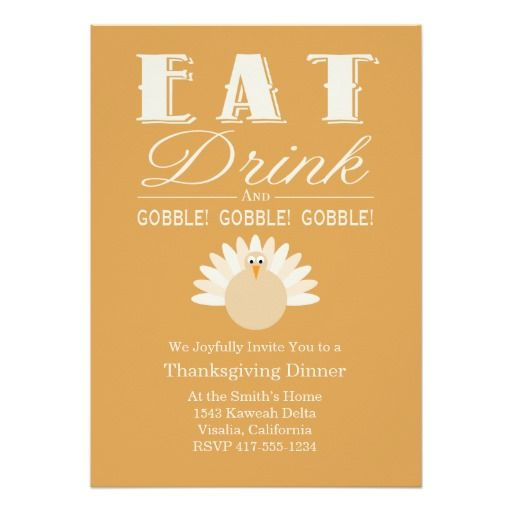 Best Thanksgiving Invitations Images On