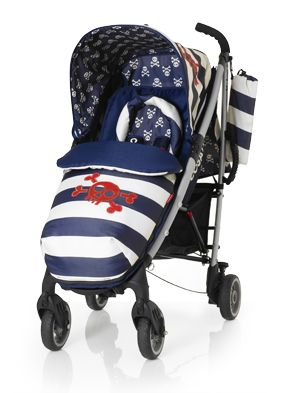 Cosatto Yo! Ahoy There Pushchair Special Edition with Changing Bag -Suitable from Birth -Super Lighweight Aluminium Chassis with Carry Handle -Compact Umbrella Fold with Auto Lock -Multiple Recline Positions -Lockable Front Swivel Wheels -Spacious Storage Basket -Free Cosy Toes with Kangaroo Pouch & Reversible Zip-Off Liner -Free Chest Pads and Head Hugger -Free Raincover and Carry Bag -Free 4 year Guarantee