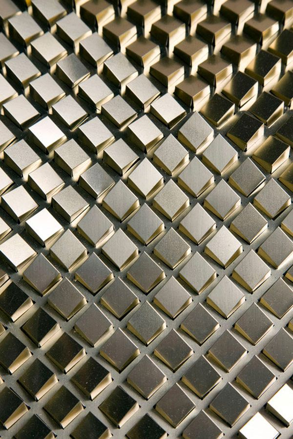 Highly Original 3D Surface Designs For Innovative Interiors #materials #surface #metal