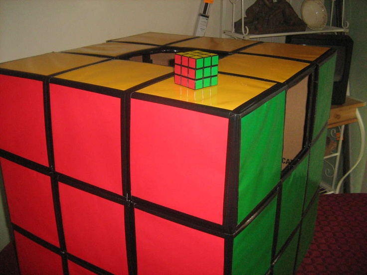 how to make a rubiks cube costume nice halloween. Black Bedroom Furniture Sets. Home Design Ideas