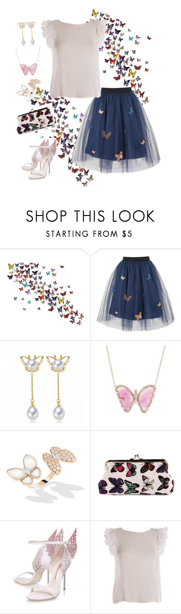 """""""Butterfly Dreams"""" by parnett ❤ liked on Polyvore featuring George J. Love, Luna Skye, Sophia Webster and Parlor"""