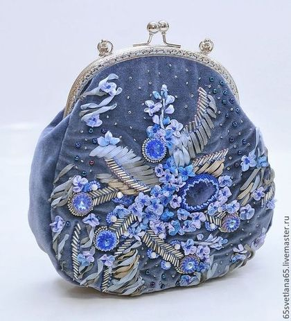 "Сумочка ""Фиалковый вечер"". Handmade. #embroidery #beadwork"