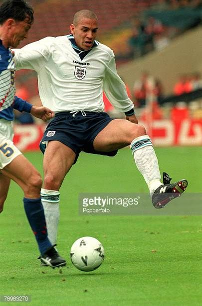 3rd June 1995 Umbro Cup Wembley Englandv Japan Stan Collymore England Stan Collymore had a colourful football career and was one of the best...