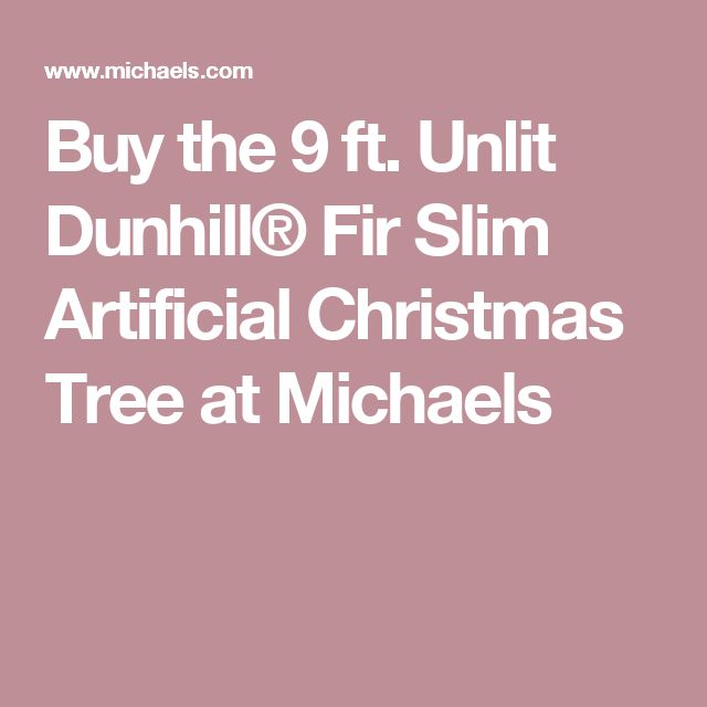 unlit dunhill fir slim artificial christmas tree at michaels