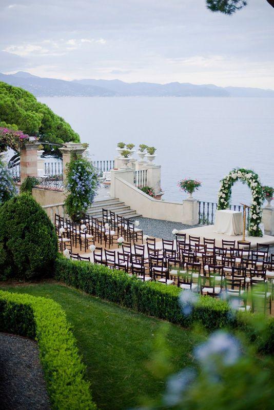 Outdoor wedding ceremony Italy # Italian Riviera wedding by Varese Wedding Italy