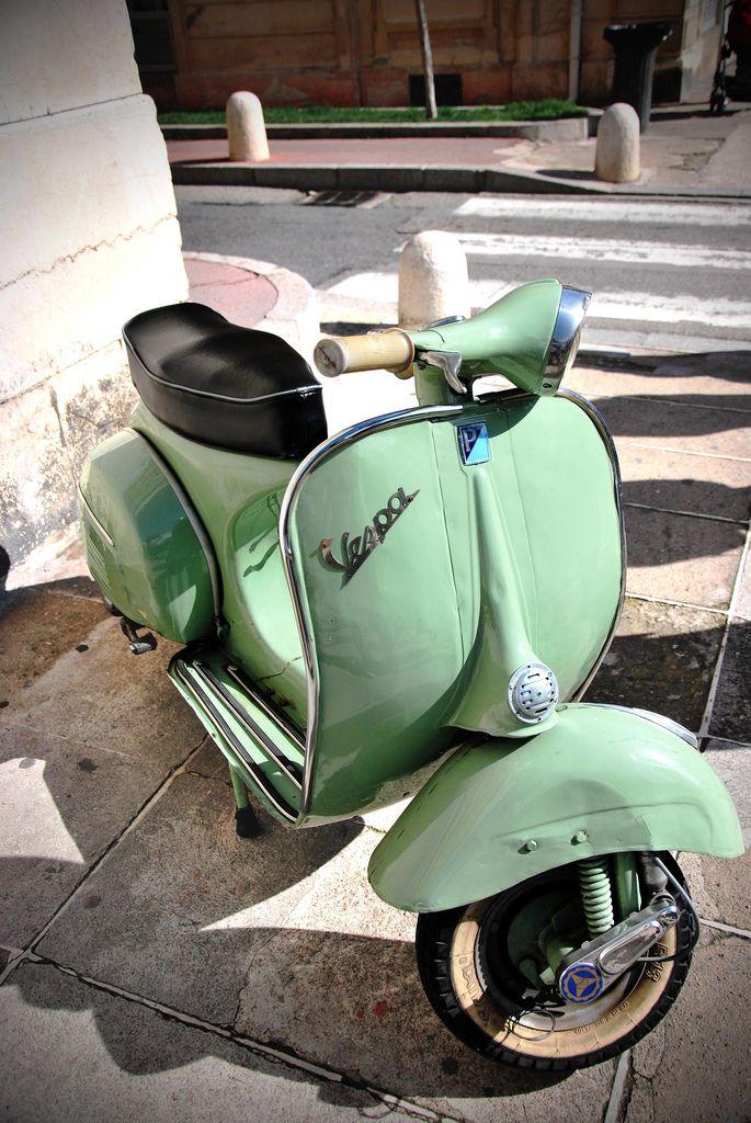Rather Vintage green vespa helmet consider, that