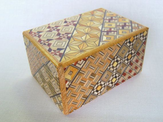 Japanese Puzzle box Himitsu bako 3.5inch Open by by tomomaru, $46.00