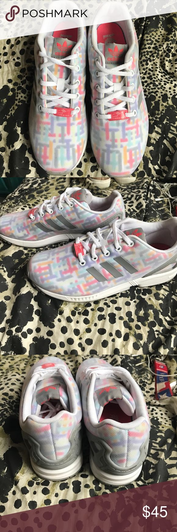 Adidas ZX Flux Size Youth 6.5 which would mean around an 8 or 8.5 in Women's. I ordered these and they ended up being too big for me, I typically wear a 7.5. Worn 2x. Adidas Shoes Athletic Shoes