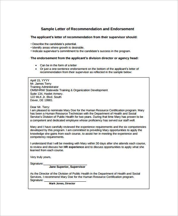 Simple Endorsement Letter Sample Lovely 12 Sample Endorsement