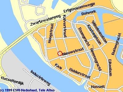 zo kom je bij ons (kaart van Hasselt (Ov.)).