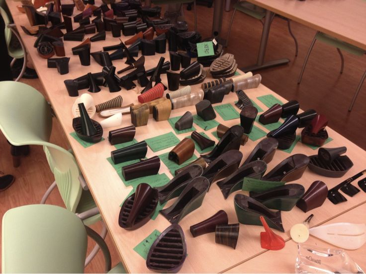 Behind the scenes McQ Shoes - heel makers